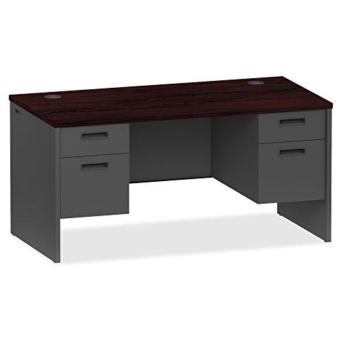 Lorell Mahogany/Charcoal Modular Desk Furniture