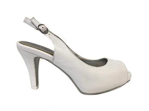Sandal Italian Blanco Heel Matrimonio White Plateau Ceremonia Zapatos Shoes Low Wedding Design Bride Zapato Sandalias Pumps Elegant Boda Mujer Novia Woman Tacón Bajo Elegantes Cuero 1zqnZ56x4T