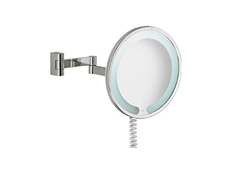 Keuco 17602019000 Cosmetics Mirror Lit Chrome Plated Round 260 Mm