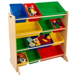 KidKraft Sort it and Store it Bin Unit - Color: Natural - Natural Bookshelf Kidkraft