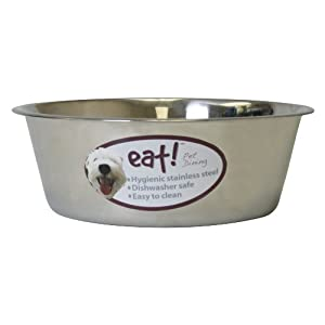 OurPets Basic Stainless Steel Dog Bowl, 10 Quart 42
