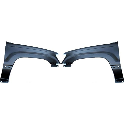 (Fender for 1999-2004 Jeep Grand Cherokee Set of 2 Steel Primed Front Left and Right)
