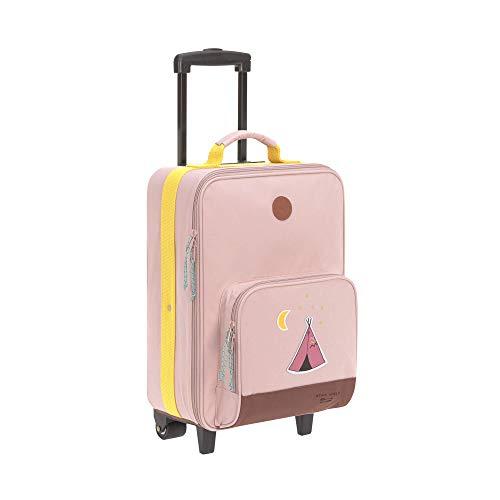 LÄSSIG Kinder Trolley Kindergepäck Reisekoffer mit Packriemen und Rollen ab 3 Jahre/Kids Trolley, Adventure Tipi, 46 cm, 18 L