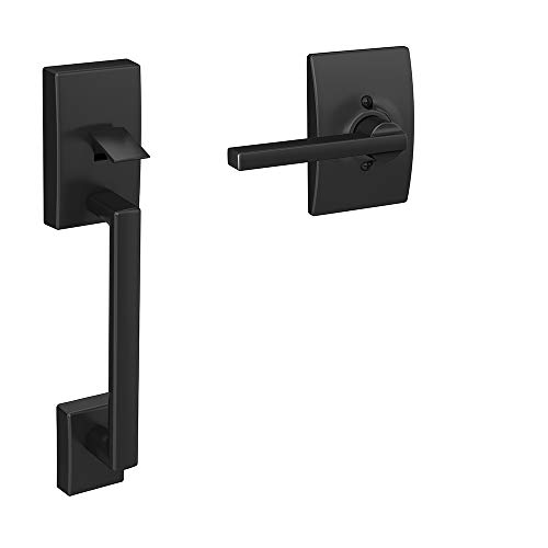 Schlage FE285 622 LAT CEN Lower Half Handleset, Matte Black (Front Door Handle Black)