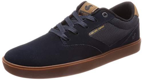 DVS Men's Pressure SC+ Skate Shoe, NVY Black Gum Suede, 10.5 Medium US