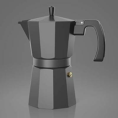 Cafetera Gator Espresso Moka - Cafetera rápida para Cocina, Compatible con inducción - 2 Tazas de Acero Inoxidable - Capacidad para 350ml/6 Tazas: Amazon.es: Hogar