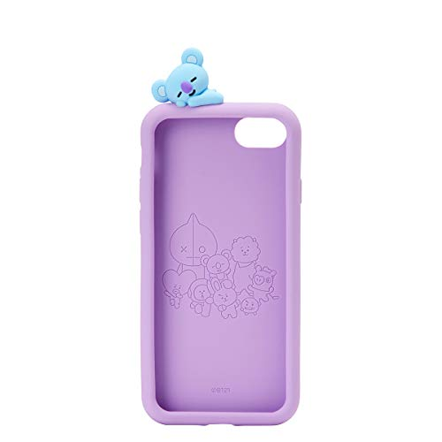 BT21 Official Merchandise by Line Friends - KOYA Character Silicone Case Compatible for iPhone 8 Plus