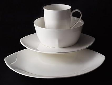 TU Studio Bone China 16pc Dinnerware Set - Quatro & Amazon.com | TU Studio Bone China 16pc Dinnerware Set - Quatro ...