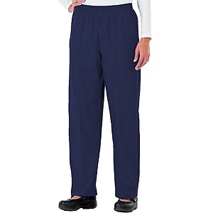 Pants Scrub Seam (Fundamentals by White Swan Women's Pull-On Front Seam Scrub Pants Small New Navy)