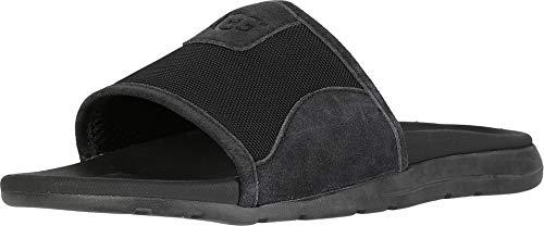 UGG Men's Xavier Ballistic Slide Sandal, Black, 11 Medium US (Ugg Sandals Mens)