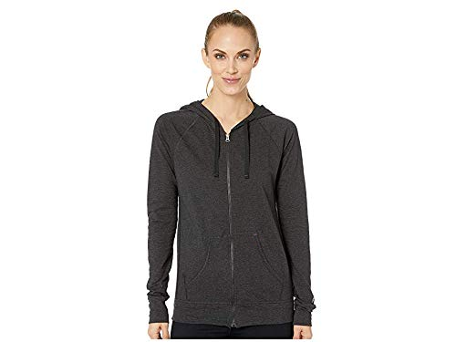 Cotton Jersey Jacket - Champion Women's Heathered Jersey Jacket, Black, L