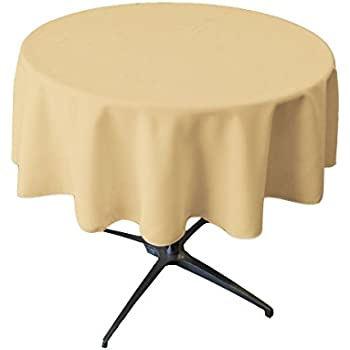 Tablecloth Round 54 Inch Beige By Broward Linens
