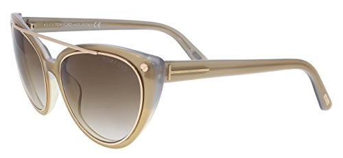 New Tom Ford Sunglasses Women TF 384 Brown 34F EDITA - New Ford Sunglasses Tom