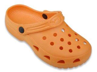 Sunville Slip On Garden Rubber Clog Shoes for Women Orange 8