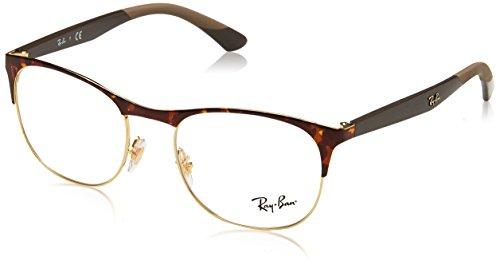Ray-Ban rx6412 2917 50 verres en or de la Havane RX6412 2917 50 Clear Havana Gold
