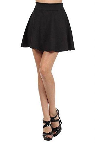 Imagenation Solid Flared Skater Skirt