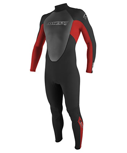 O'Neill Youth Reactor 3/2mm Back Zip Full Wetsuit, Black/Red/Graphite, 12 ()