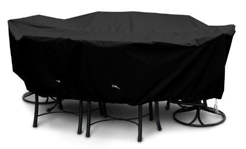 KoverRoos Weathermax 71352 Large Dining Set Cover, 108 by 82 by 28-Inch, Black