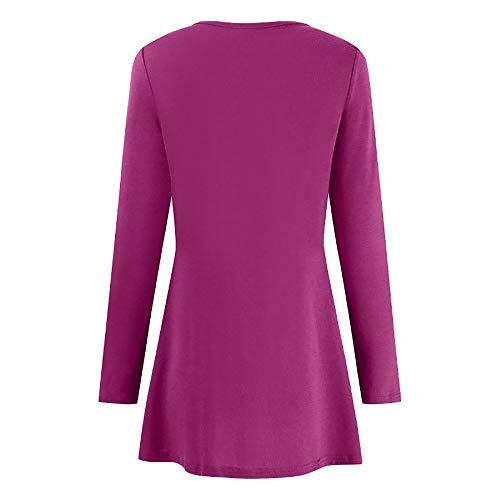 Manches Rose Haut Solide Innerternet Automne Blouse Bouton Femmes Shirt Vif T Longues V Casual LaChe Col Mode Tops qaa7RcwOt
