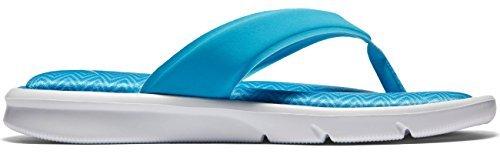 (New Nike Women's Ultra Comfort Thong Print Chlorine/Blue)