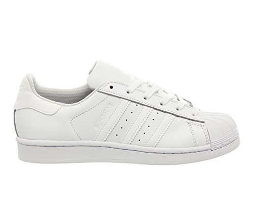 adidas Superstar Foundation, Scarpe da Ginnastica Basse Unisex - Adulto Bianco