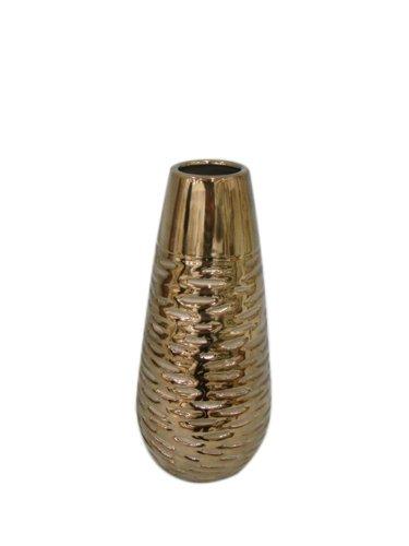Amazon Utc 11115 Gold Ceramic Vase With Horizontal Distress