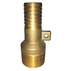 Barb Male Insert (ProPlumber Brass Adapter, 1-1/4-in male NPT thread x 1-in-insert barb)
