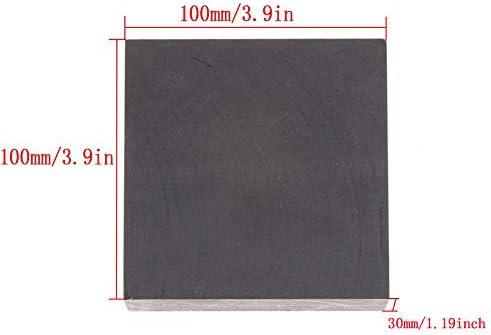 SOFIALXC Graphitplatte, Graphitblock mit 99,9% Reinheit, mit hoher Reinheit Dichte, Zähigkeit EDM Graphitplattenfräsoberfläche 100x100x30 mm