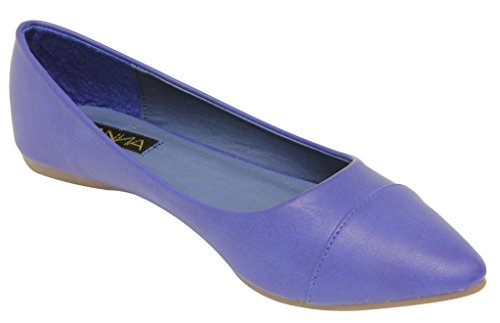 slip pleated bow Blue oxford on loafer flat Womens boat knot Anna shoes Lily 39 suede xnqT4BY
