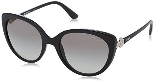 VOGUE Women's Injected Woman 0vo5060s Round Sunglasses, Black, 53 mm