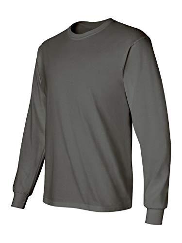 Gildan 6.1 oz. Ultra Cotton Long-Sleeve T-Shirt, Charcoal, M