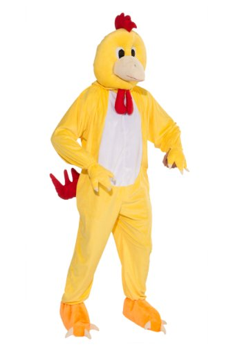 - Forum Novelties Men's Promotional Chicken Mascot Costume, Yellow, One Size