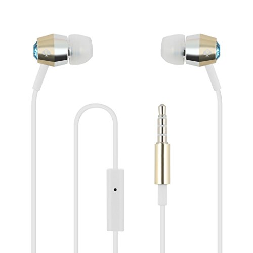 KSNYEB-AGS Earbuds [in-Ear Headphones] with Gold & Silver Trim - Aquamarine ()