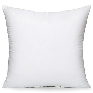 Acanva Hypo-Allergenic Pillow, Square, 18  L x 18  W