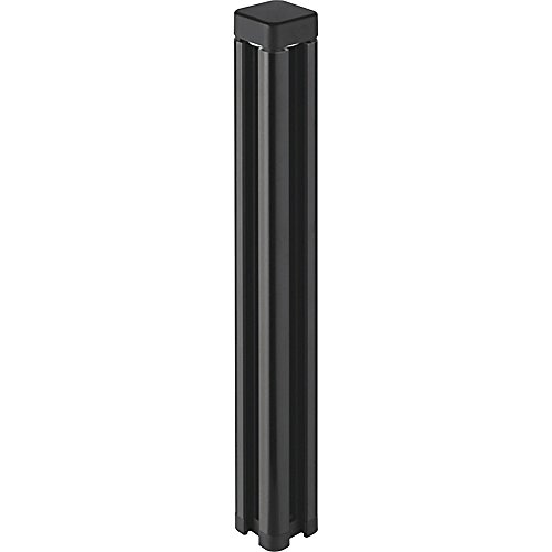 Lorell Desktop Panel System Post - 1.5quot; Width x 1.5quot; Depth x 12quot; Height - Black by Lorell