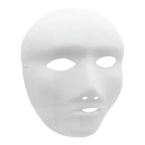 MICHLEY Kids Full Face Party Masks White DIY Mask in Masquerade (12 pcs Children) ()