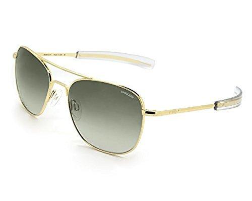 843aae9771 Randolph Aviator Sunglasses 23K Gold   Bayonet   Green Gradient Nylon AR  58mm