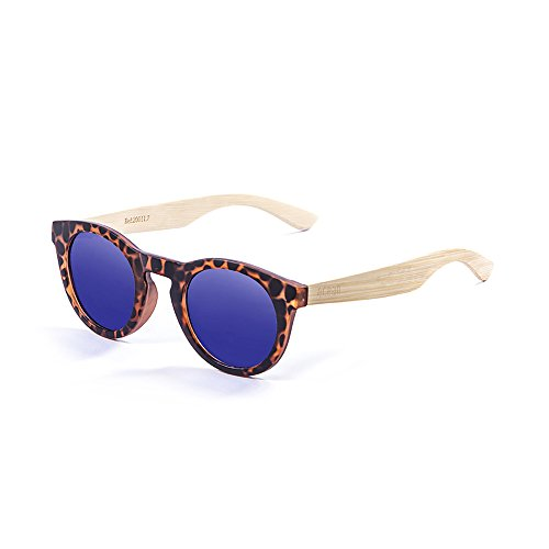 Ocean Sunglasses San Francisco Lunettes de soleil Demy Brown Frame/Wood Natural Arms/Revo Blue Lens TsV8YpJH