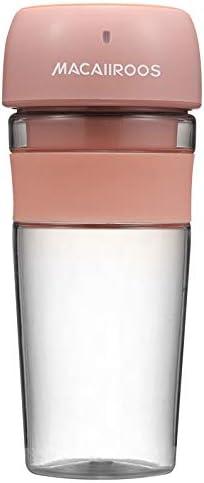 MZ Blender Portable 300ml Cup Juicer Ménage extérieur Voyage Portable Mini Mixer Juice Maker Milkshake avec batterie (Color : Blue) Pink