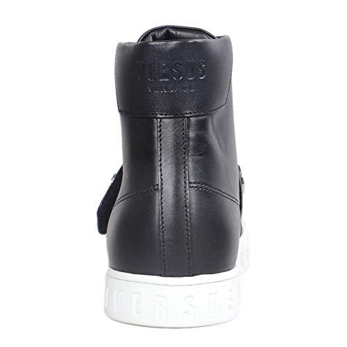 bianco Versace Nero Pelle Trainer Nero In Sole Tracolla qfXfwSZ