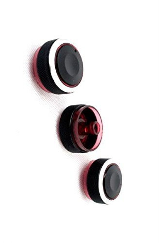 (Ormax Brand New Durable Quality Billet Aluminium Anodized A/C Control Knobs (Red Color) for Mazda 3 / Axela 04-09)