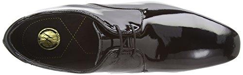Hudson Dawlish - derby cordones de cuero hombre negro - negro