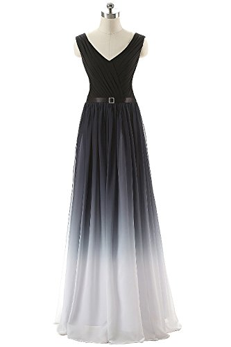 Ikerenwedding - Vestido - para mujer Blanco Negro +