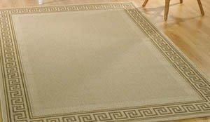 greek key rug beige 120cm x 170cm