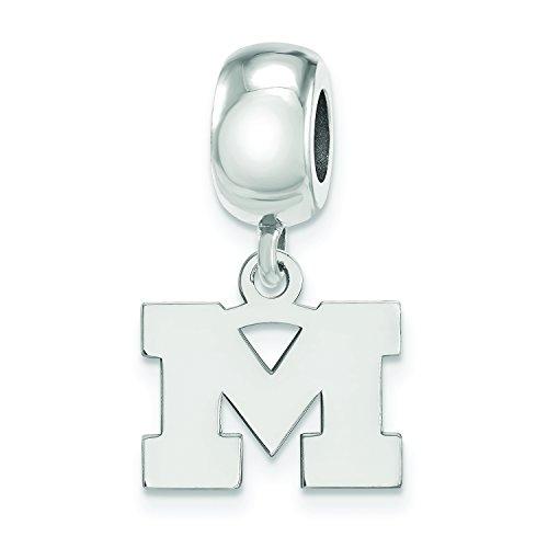 (LogoArt Sterling Silver Michigan Wolverines XS Dangle Bead)