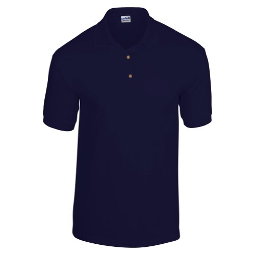 Gildan Adult DryBlend Jersey Short Sleeve Polo Shirt (L) (Navy)