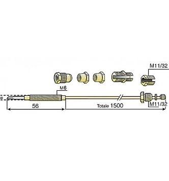 Expert by net - Termopar - Termopar 6 empalmes grande cocina (M8 - M9 - M10 - 11/32 - F6 - compresión): Amazon.es: Bricolaje y herramientas