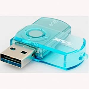 SSK SFD017 USB2.0 Flash Drive 8GB U Disk Blue