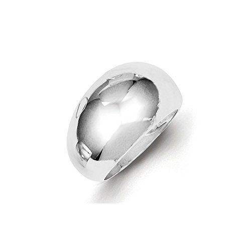 925 Sterling Silver Domed Band Ring Size 6.00 Fine Jewelry Gifts For Women For Her