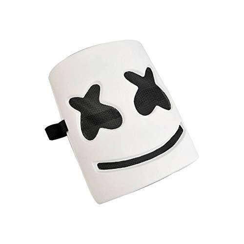 Smartcoco DIY DJ Mask Helmet Head Frightening Halloween Cosplay Mask Props Full Head EVA Mask for Music Festival Party Halloween Costumes (NO LED)